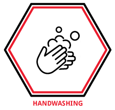 Statement of Covid-19 - Wash your hands icon