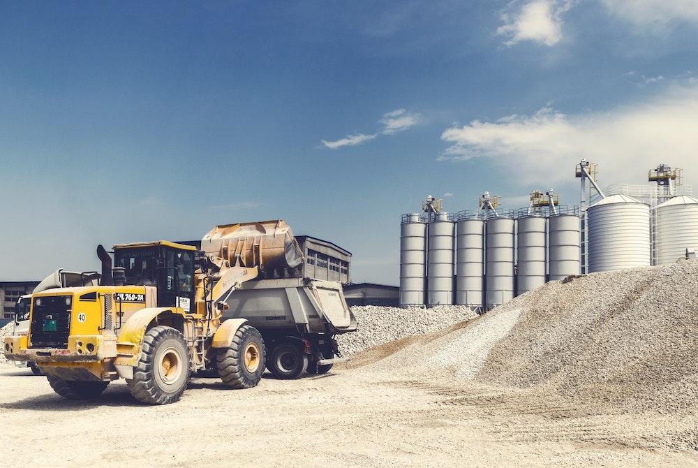Excavation company on site